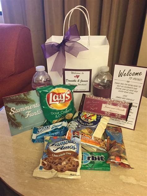 Hotel Welcome Bags for our wedding. We bought everything