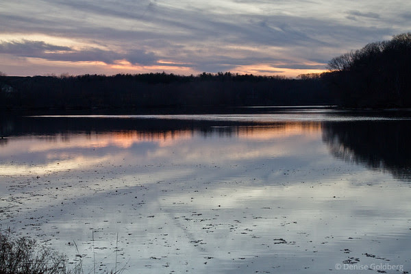 sunset over the Merrimack River