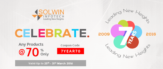 Solwin Infotech 7th Anniversary Offer - Any Product At 70% Only
