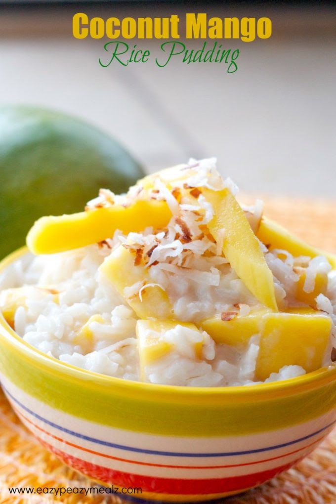 Coconut Mango Rice Pudding (Dairy Free) - Eazy Peazy Mealz