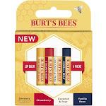 Burt's Bees 100% Natural Moisturizing Lip Balm - 4 pack
