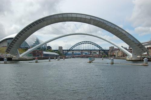 Gateshead Millennium Bridge open Jul 10 3