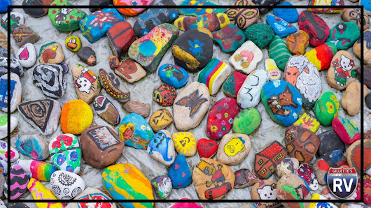 Can You Guess What These Painted Rocks Are For?. Gillettes Interstate RV