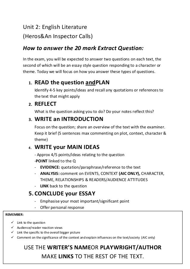 how to write an essay question answer