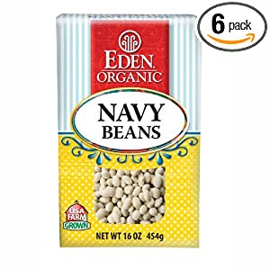 Eden Organic Navy Beans, 16-Ounce Boxes (Pack of 6)