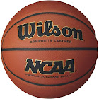 Wilson NCAA Replica Game Basketball, Orange, 29.5""