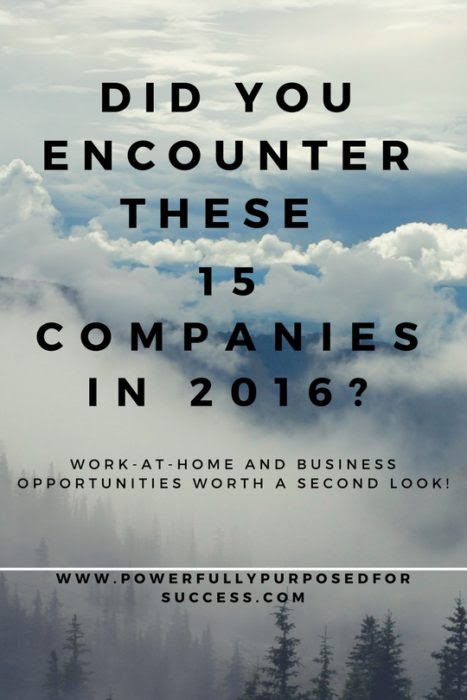 Companies Reviewed--2016   | Powerfully Purposed for Success