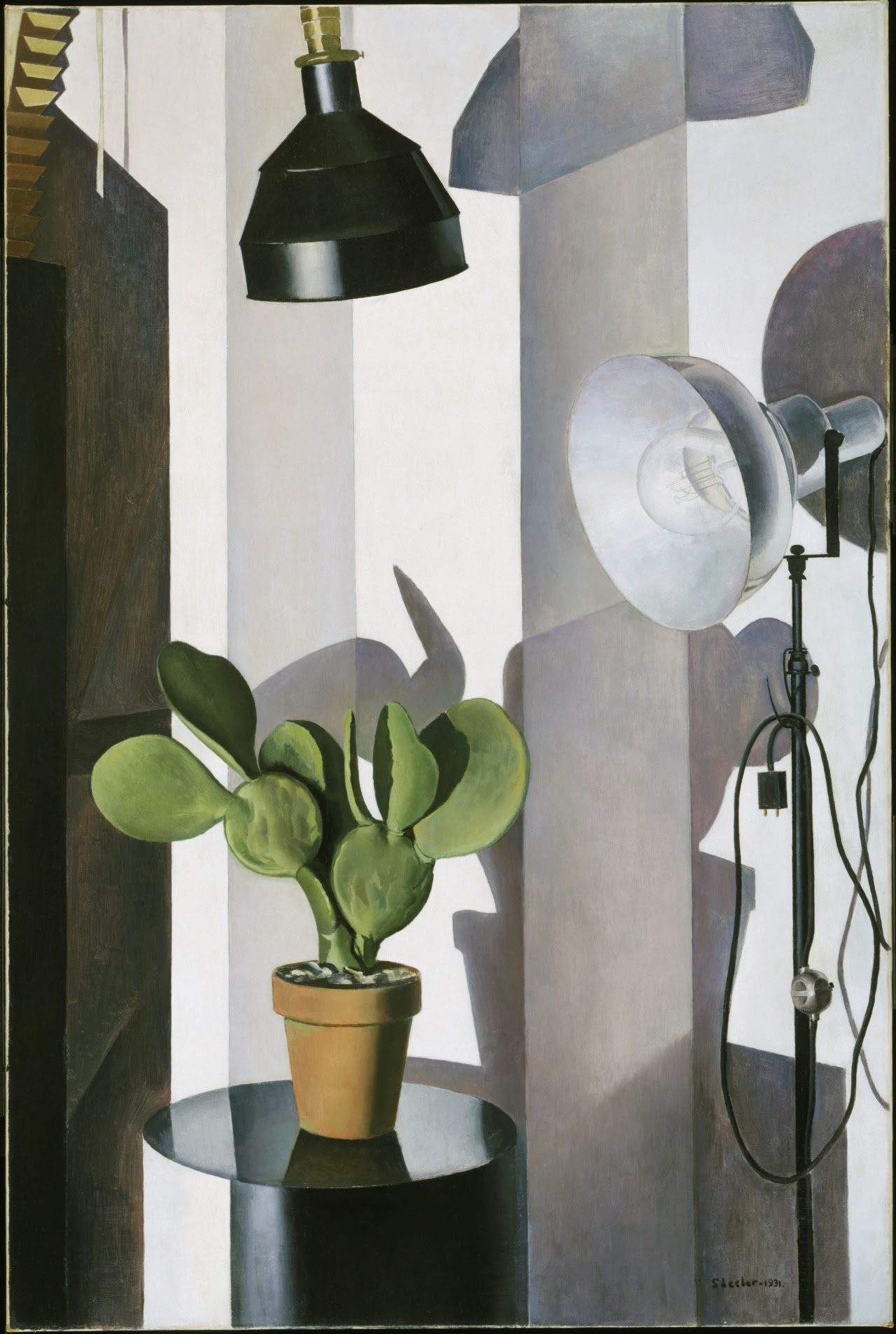 "philamuseum:  What do you think Charles Sheeler was trying to express with this still life painting? Share pictures of still life that represent you with #StillLifeSelfie for a chance to win a prize package including Terrain, Federal Donuts, and Art in the Age of Mechanical Reproduction gift cards as well as a two-night weekend stay at the Radisson Blu Warwick Hotel, Philadelphia. More information here. ""Cactus,"" 1931, by Charles Sheeler"