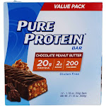 Pure Protein Protein Bar Value Pack Chocolate Peanut Butter 12 Bars