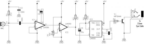 Wireless Remote Camera Flash Trigger circuit