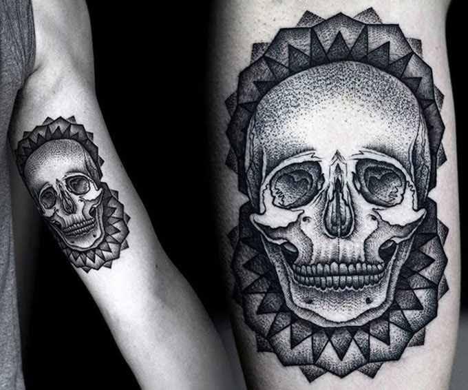 Black Skull Tattoo By Kamil Czapiga Design Of Tattoosdesign Of Tattoos