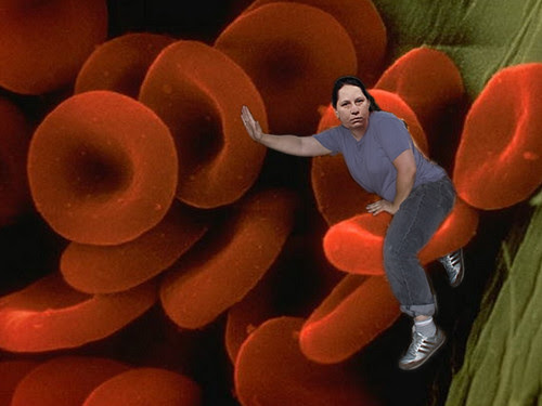 riding red blood cell