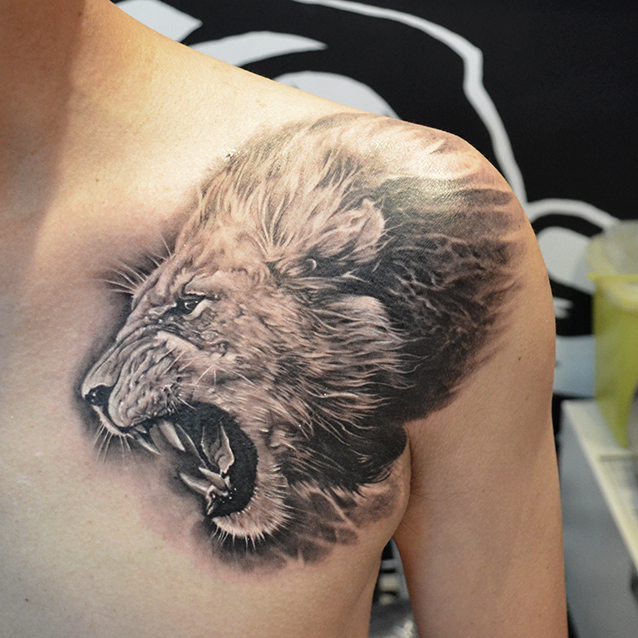 Heart Of A Lion Done By Elvin Tattoo Singapore Tattoos