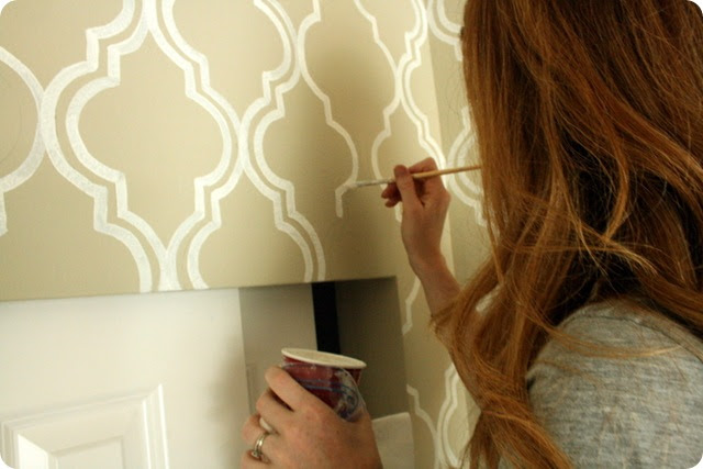 more painting around closet doors