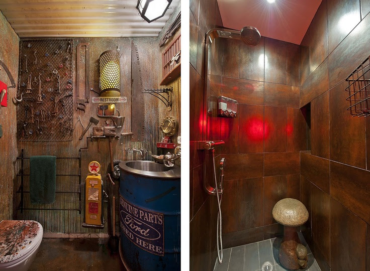 "Steampunk interior design and ""fittings"""