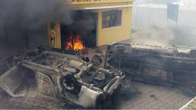 carros queimados
