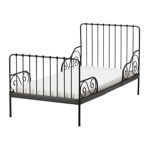 MINNEN Sängynrunko, jatkettava + sälepohja IKEA Jatkettava. Sänkyä voidaan pidentää lapsen kasvaessa.