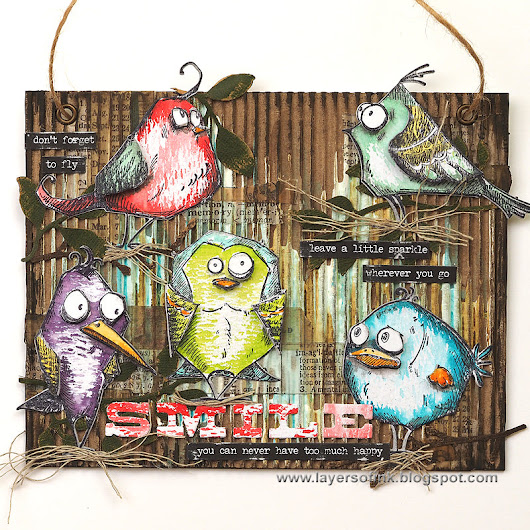 Going Crazy for Birds and Things by Tim Holtz | Art Supplies for Creative Minds | Mixed Media, Art Journaling, Drawing and Painting
