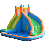 Forest Grass USA Inflatable Mighty Bounce House Jumper with Water Slide