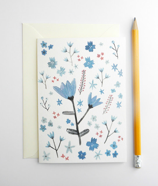 Blue Flowers card