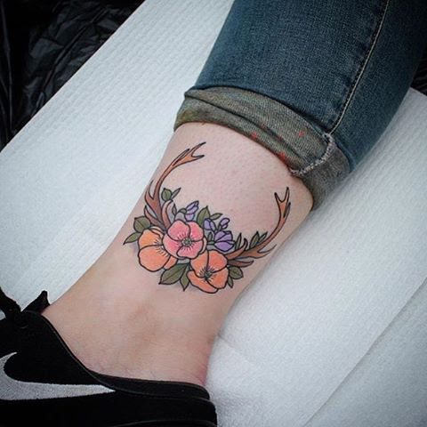 Flower Ankle Tattoos Best Tattoo Ideas Gallery