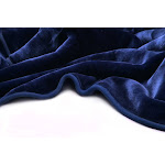 Vivalon Solid Color Ultra Silky Soft Heavy Duty Quality Korean Mink Reversible Blanket (Navy Blazer, Queen)