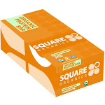 Square Organics Chocolate Coated Protein Bar, Peanut Butter - 12 count