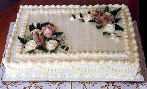 Cut down your wedding costs by ordering a sheet cake