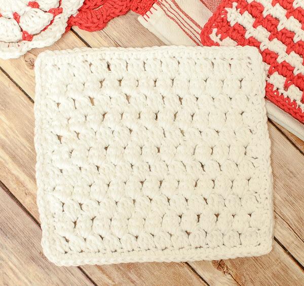 Cluster Stitch Crochet Dishcloth Pattern