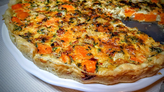 Sweet potato quiche in CookArr, a cooking blog