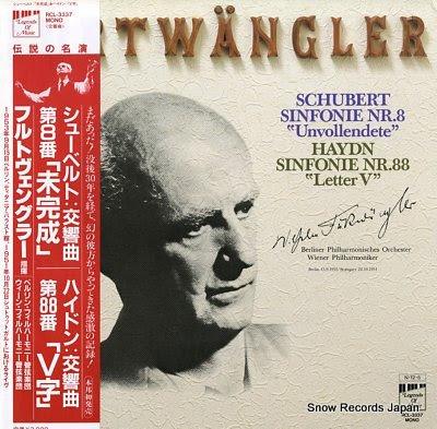 FURTWANGLER, WILHELM schubert; symfonie nr.8 unvollendete