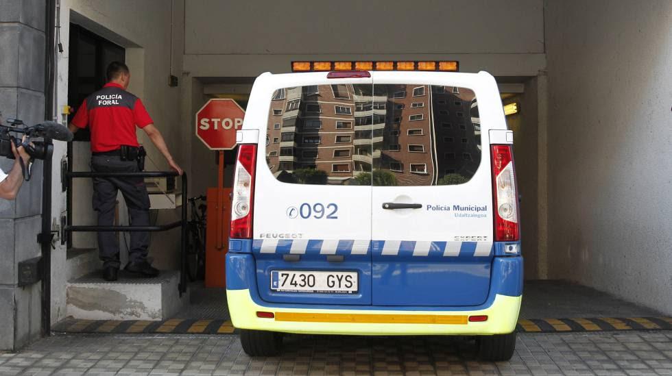 Un furgón de la Policía Municipal de Navarra.