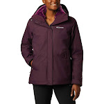 Columbia Women's Bugaboo II Fleece Interchange Jacket - 1X - Black Cherry / Wild Iris