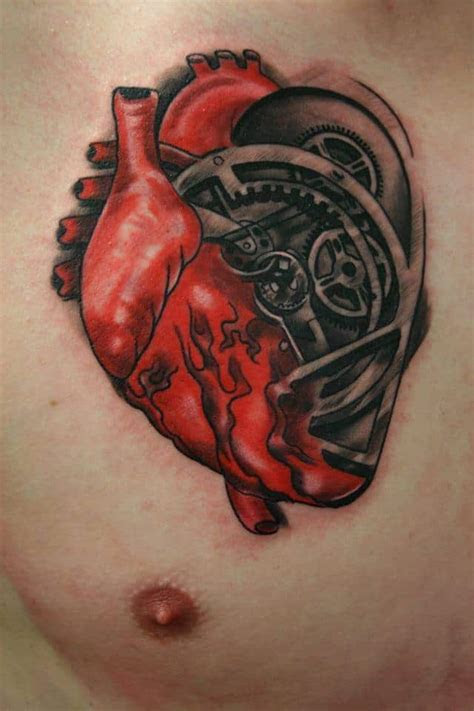 mechanical heart tattoo birmingham ink tattoo studio
