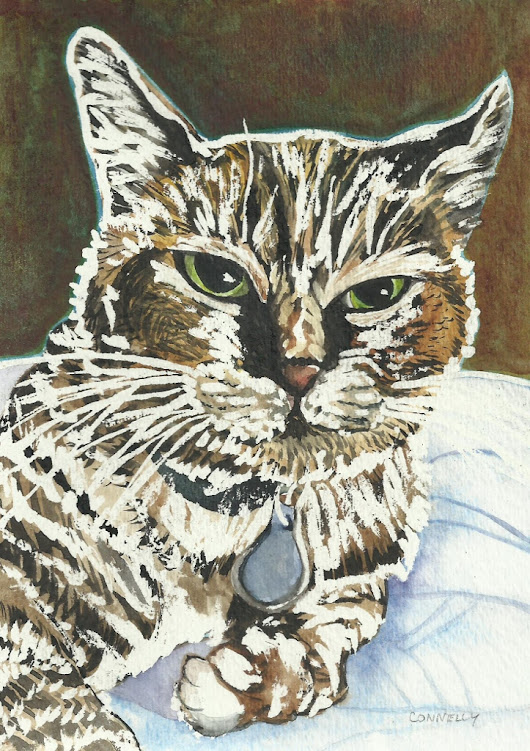 Cats Painted In Watercolor Day 21 September 2016 -