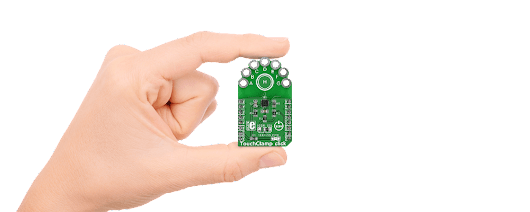 TouchClamp click – board with MPR12 proximity capacitive touch sensor | MikroElektronika