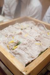 美明豚と水菜の蒸篭蒸し, 霧乃個室 蒸し屋清郎, 渋谷