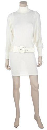 White turtleneck sweater dress off brands