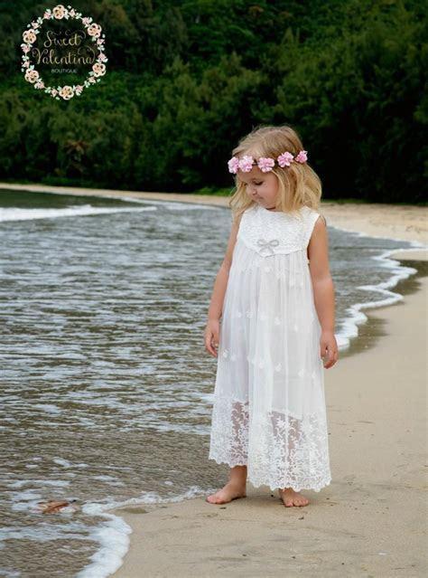 Flower Girl Dress, Girls Lace Dress, Rustic Flower Girl