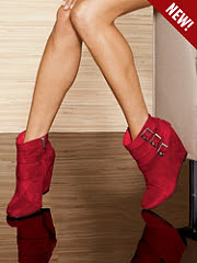 Buckle Wedge Bootie