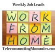 Weekly Work at Home Job Leads - Telecommuting Mommies
