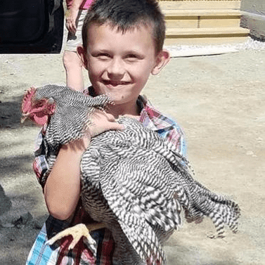 James Davis Jr and his rooster, thanks to