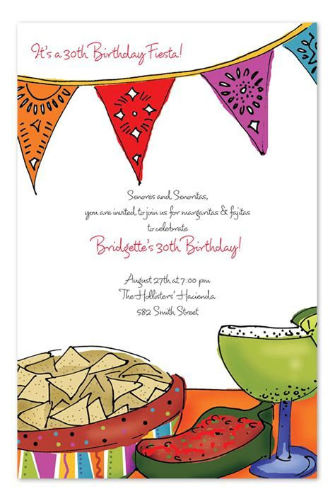 Fiesta Food   Party Invitations by Invitation Consultants