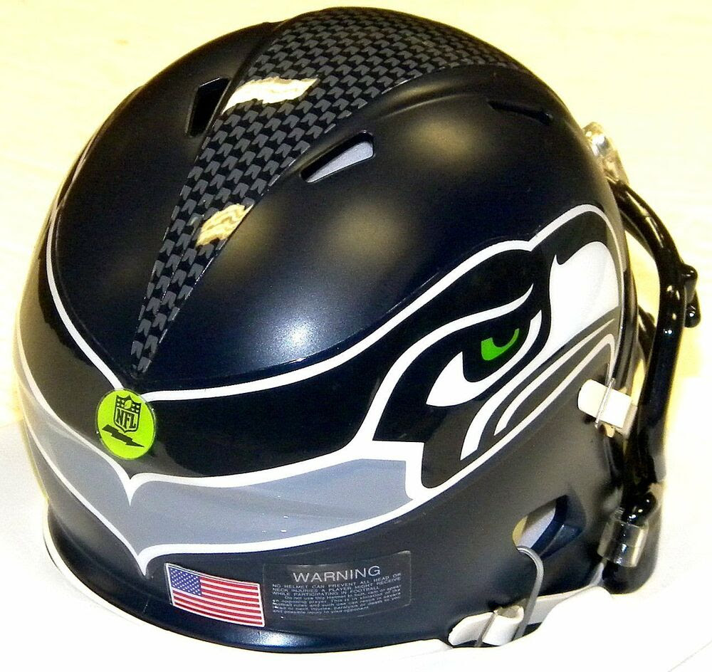 RUSSELL WILSON EDITION Seahawks Riddell NFL Game Day Football Speed Mini Helmet  eBay