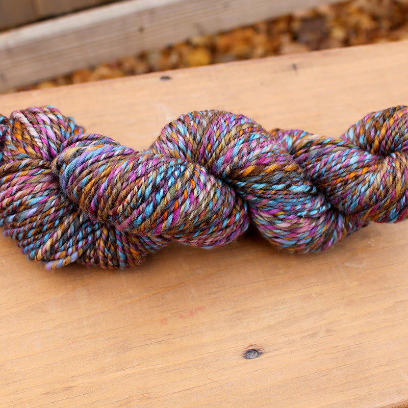 Autumn Rainbow handspun