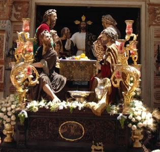 Misterio de la Sagrada Cena en el Corpus Christi de 2011 / J.J. COMAS R.