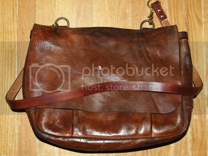 Vintage Leather Mail Bag