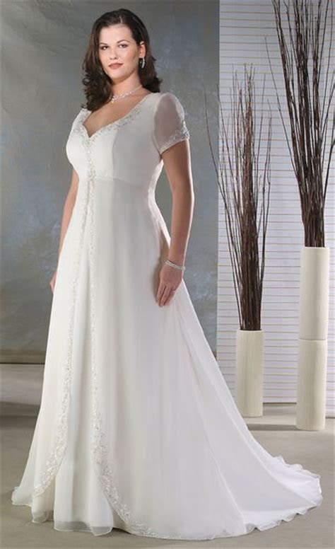 empire sheer short sleeve  size wedding dresses