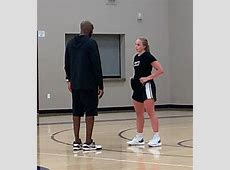 Cashmere?s Hailey Van Lith works with Kobe Bryant to