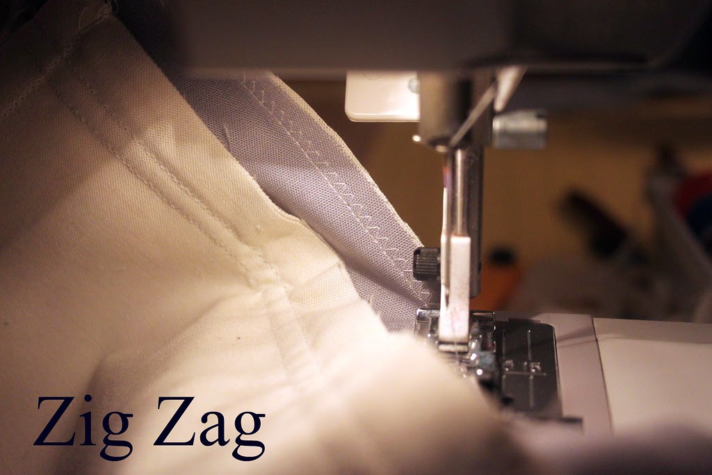 zig zag stitch around